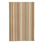 2' x 3' Beige and Orange Striped Rectangular Area Throw Rug