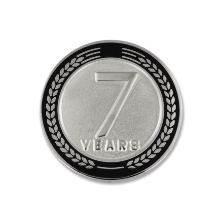 PinMart's 7 Years of Service Award Employee Recognition Gift Lapel Pin - Black Corporate Employee Recognition Acrylic
