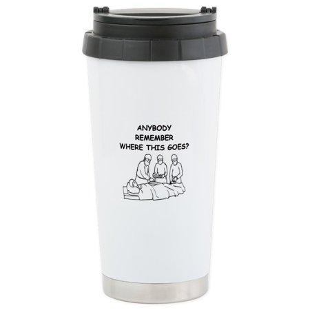 CafePress - Doctor Joke - Stainless Steel Travel Mug, Insulated 16 oz. Coffee Tumbler for $<!---->