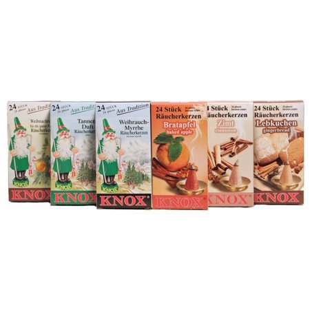Knox Six Pack of Christmas Scents German Incense Cones ()