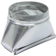Lambro 123IND 7 in. Round Aluminum Transition Fitting