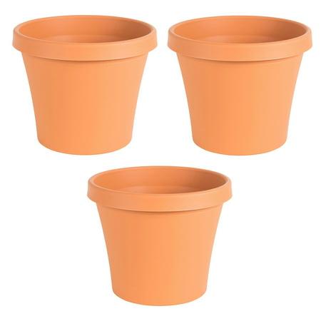 Bloem Terra Gardening Flower 12 Inch Resin Pot Planter, Terra Cotta (3