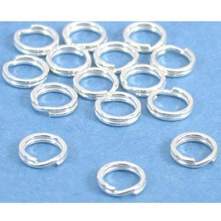 15 Split Rings Sterling Silver Charm Parts