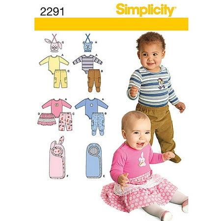 Simplicity Babies' Size XXS-L Sportswear Pattern, 1 Each Baby Sewing Patterns