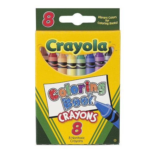 Crayola Coloring Book Crayons, 8ct