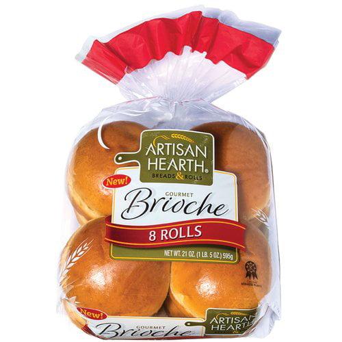 Artisan Hearth Brioche Rolls, 8 ct
