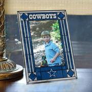 "Dallas Cowboys Art Glass 4 x 6"" Vertical Picture Frame"