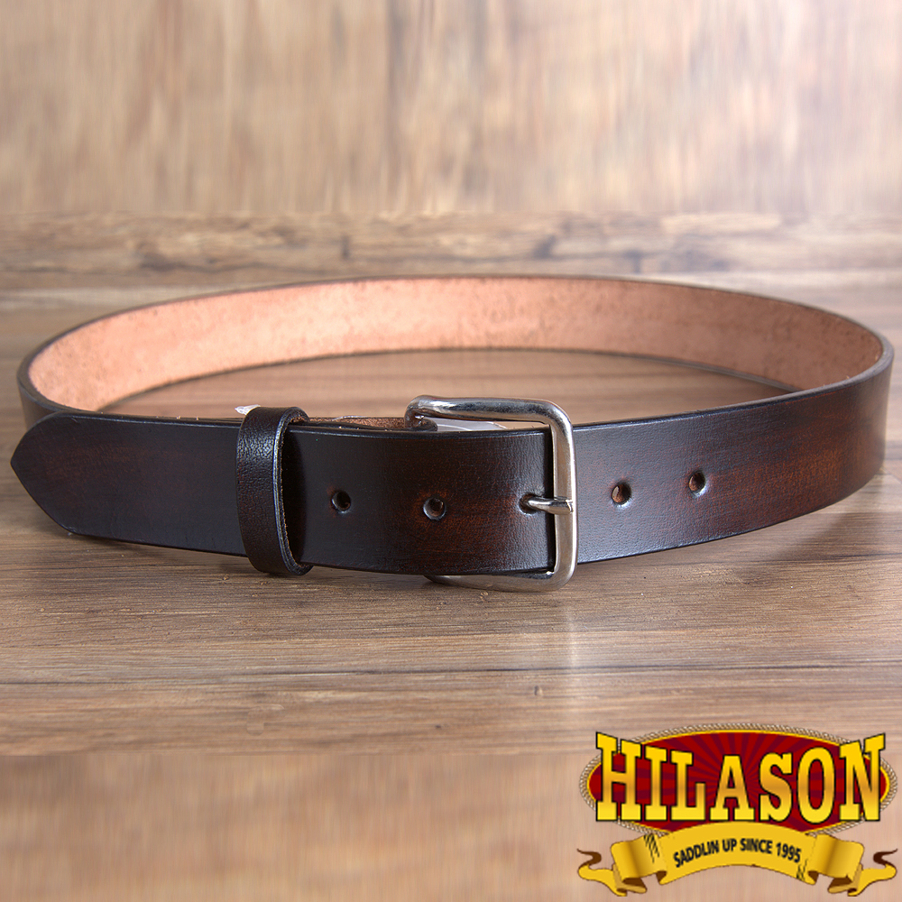 "BT109DB 24"" HILASON HAND MADE HEAVY DUTY BUFFALO HIDE LEATHER GUN HOLSTER BELT"