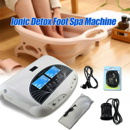 110V-220V Dual System Foot Bath Spa Machine Ionic Detox Cell Cleanse Machine Array