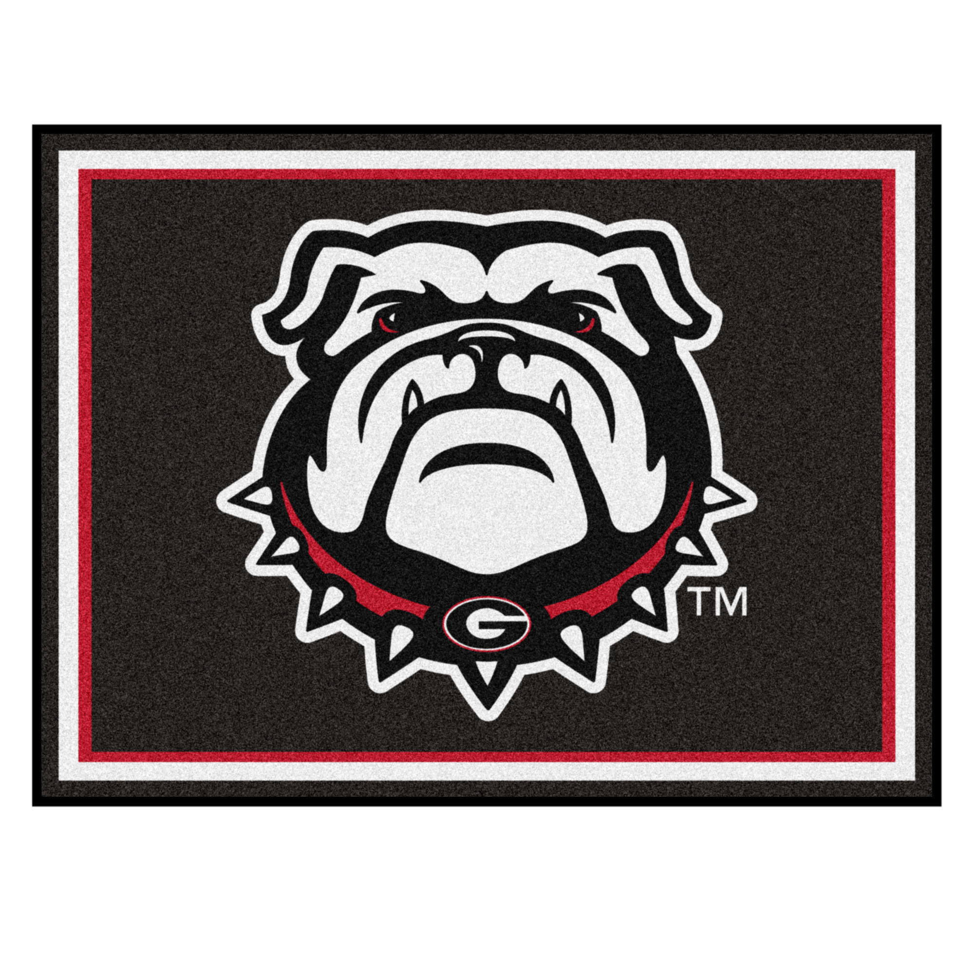 Georgia Black New Bulldog 8'x10' Rug