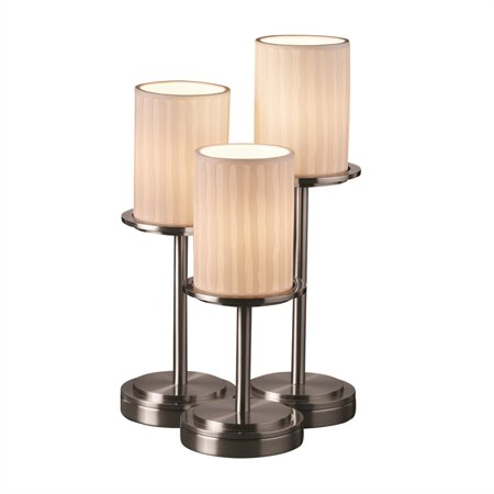 Justice Designs Limoges Dakota 3-LT Table Lamp - Brushed Nickel -