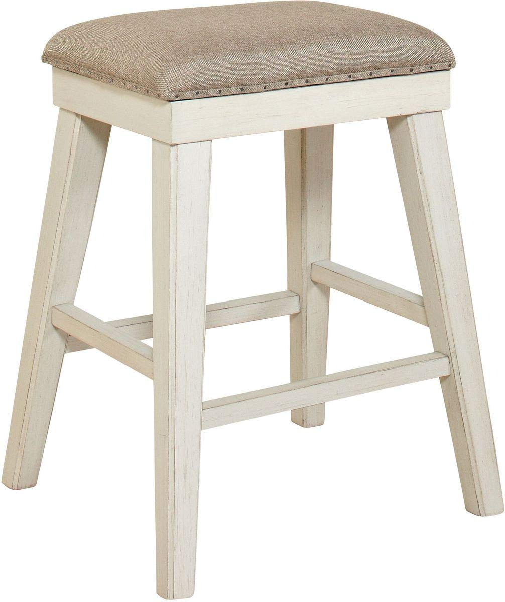 Image of: Avalon Furniture Mystic Cay Kitchen Island Rectangular Backless Stool In Two Tone Walmart Com Walmart Com