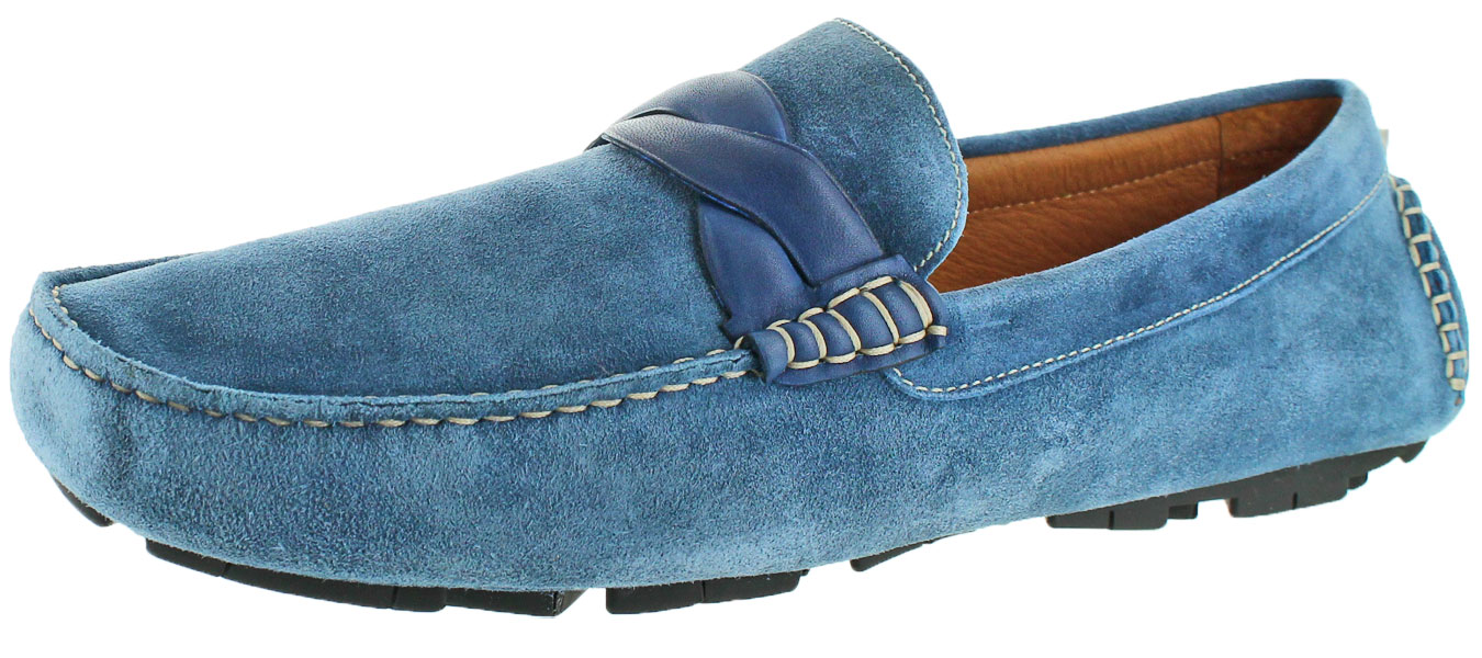 Donald J Pliner Hansen Men's Suede Slip On Driving Moccasins Shoes by