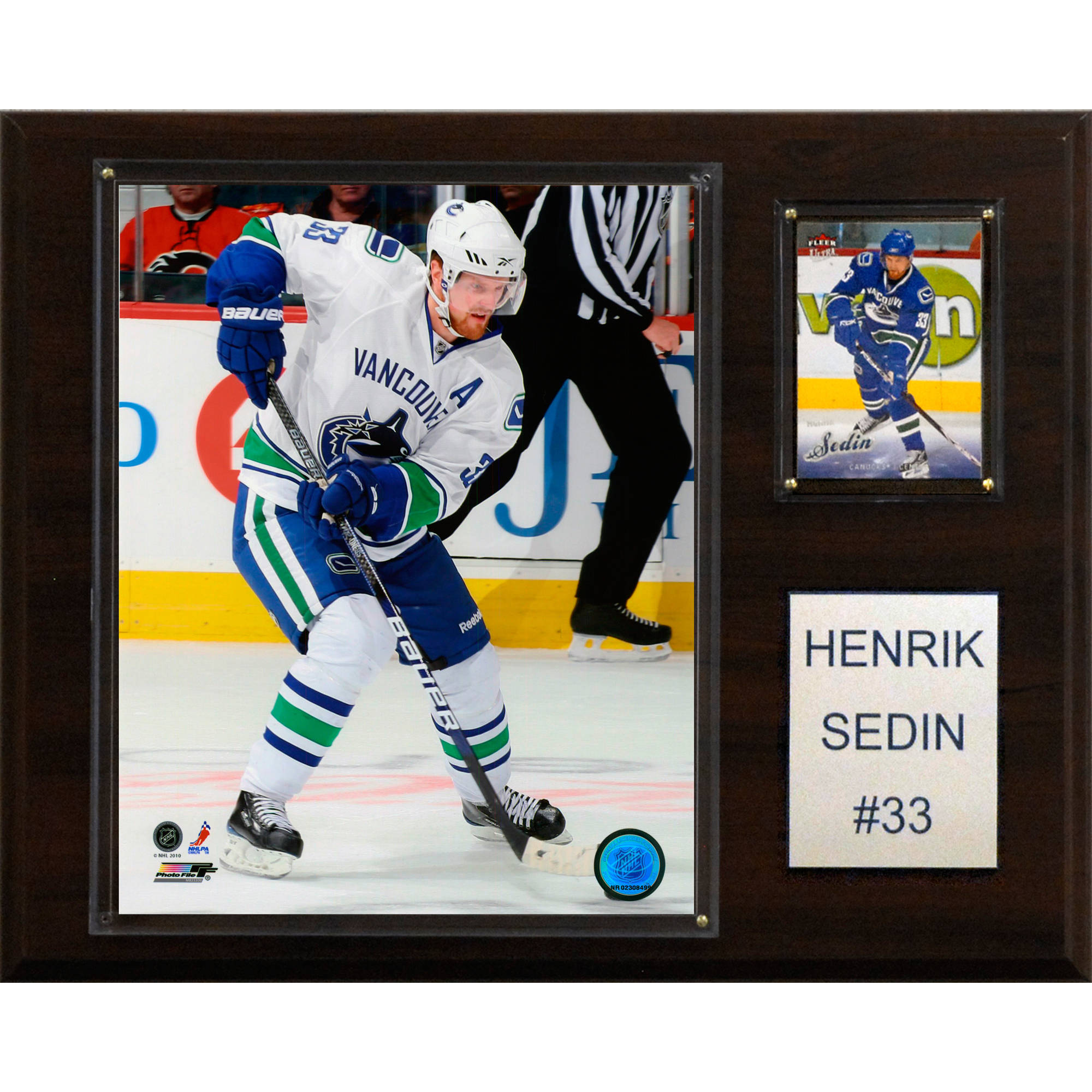 C&I Collectables NHL 12x15 Henrik Sedin Vancouver Canucks Player Plaque