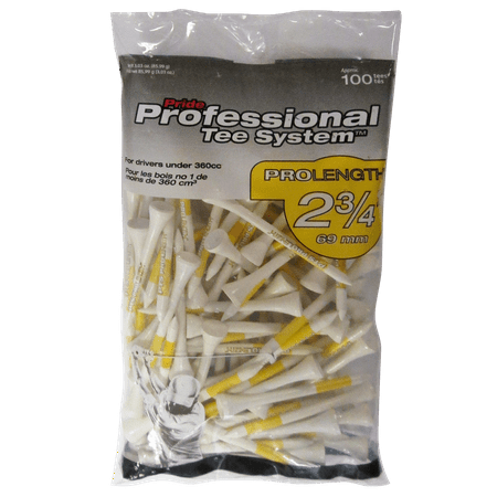 PTS ProLength White Golf Tees, 100 -