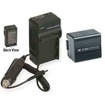 Battery + Charger for Hitachi DZ-BP14, Hitachi DZ-BP14S, Hitachi DZ-BP14R, Hitachi DZ-BP14SW, Hitachi DZ-BP14SJ Hitachi Camera Charger