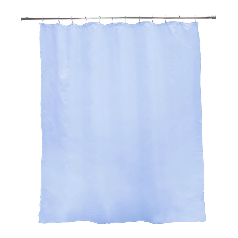 183cm x 183cm iDesign Mildew-Free Water-Repellent Fabric Shower Curtain Liner Sand