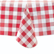 """Mainstays Red Check Vinyl Tablecloth, 60""""x102"""""""