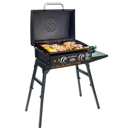 "Blackstone Adventure Ready 22"" Griddle with Hood, Legs, and Bulk Adapter Hose"