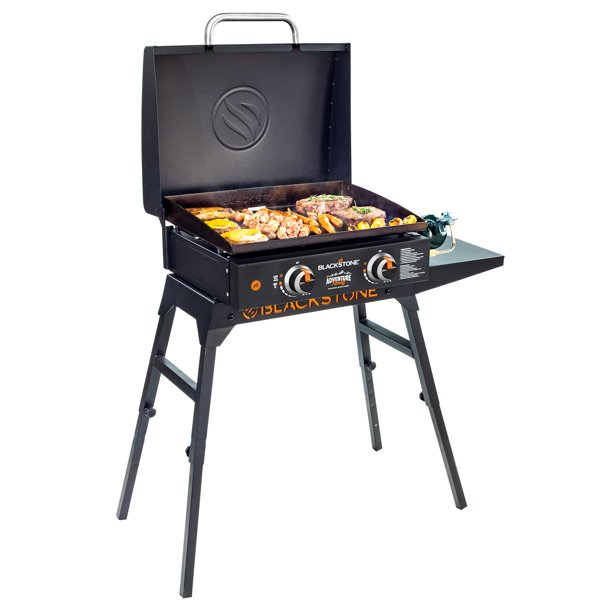 "Blackstone Adventure Ready 22"" Griddle with Hood, Legs, Adapter Hose"