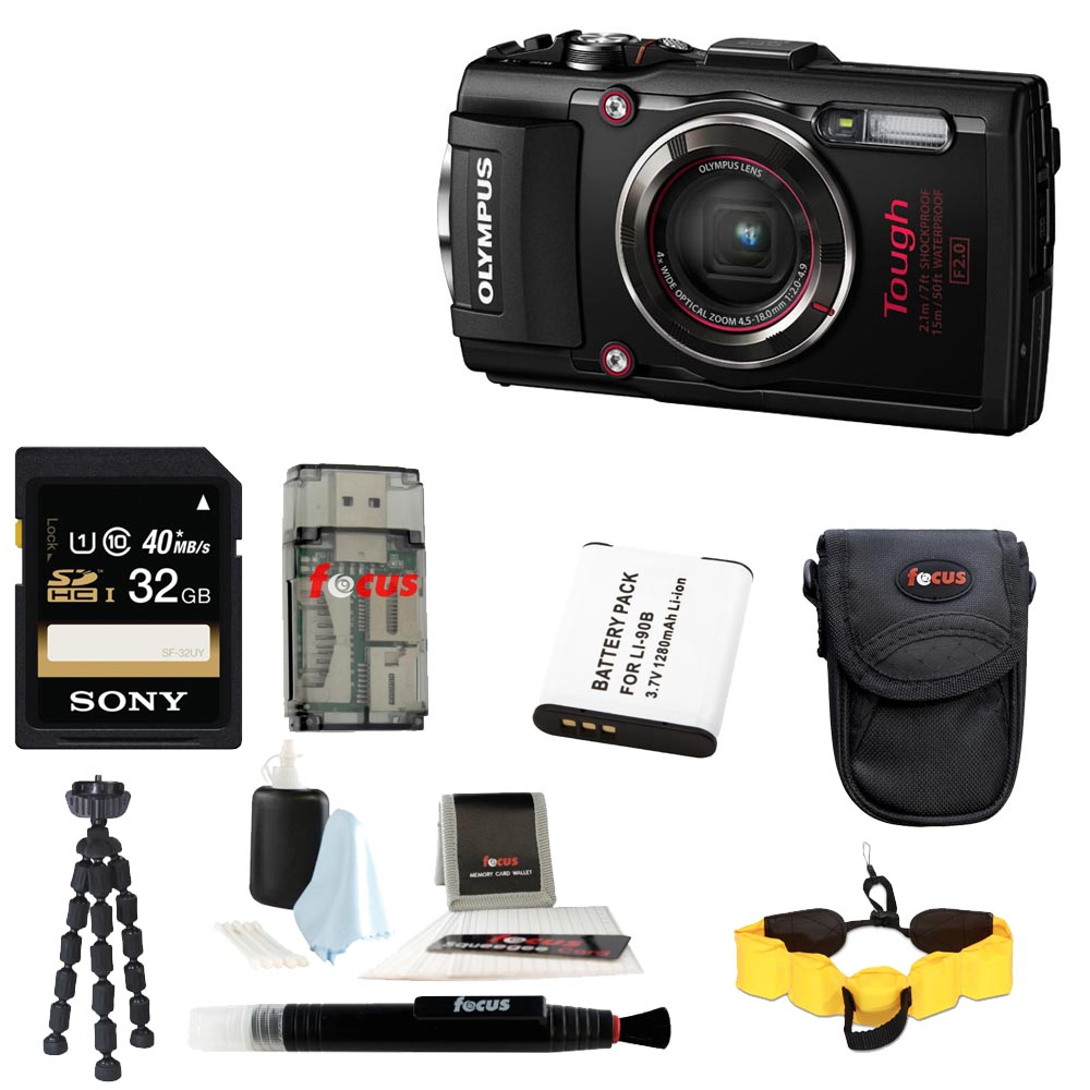 Olympus TG-4 16 MP Waterproof Digital Camera with Accessory Bundle