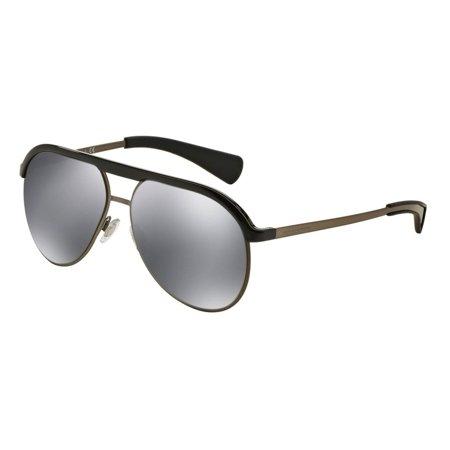 DOLCE & GABBANA Sunglasses DG 6099 501/6G Black/Shiny Gunmetal (Dolce And Gabbana Mirror Sunglasses)