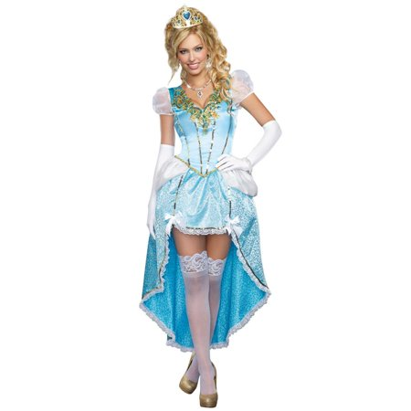 Having A Ball Sexy Princess High-Low Dress w/Crown size S Costume Dreamgirl Womens - Cinderella Crown