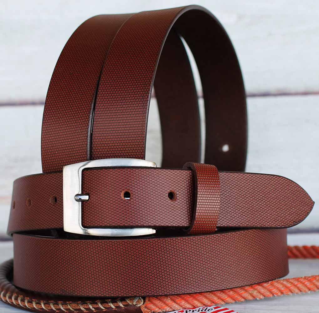 Full Grain Cowhide 100% Leather Casual Dress Mens Women Belt Brown 2610RS01P