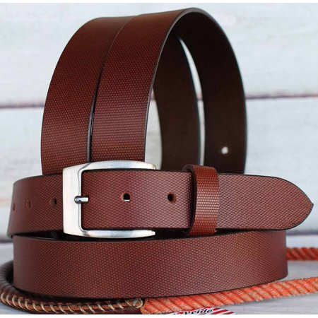 Full Grain Cowhide 100% Leather Casual Dress Mens Women Belt Brown 2610RS01P