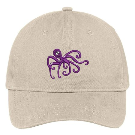 Trendy Apparel Shop Octopus Embroidered Soft Crown 100% Brushed Cotton Cap  - Walmart.com 7074210c7553