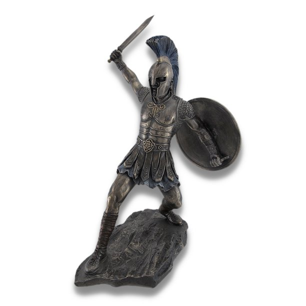 Bronzed Trojan Warrior Hector with Sword and Shield in ...