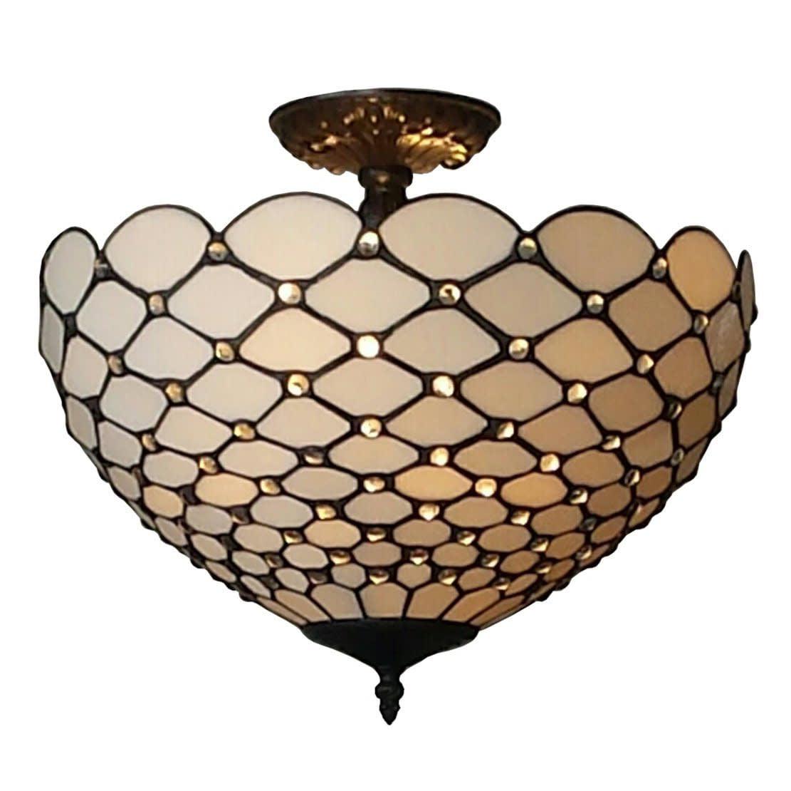 Amora Lighting Tiffany Style Jewel Semi