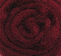 Wool Roving 12 .22 Ounce-Raspberry Multi-Colored