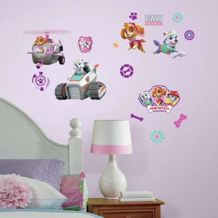 RoomMates Paw Patrol Girl Pups Peel And Stick Wall Decals (Stick Figure Window Decals)