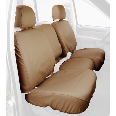 Covercraft Custom-Fit Front Bench SeatSaver Seat Covers - Polycotton Fabric, Tan