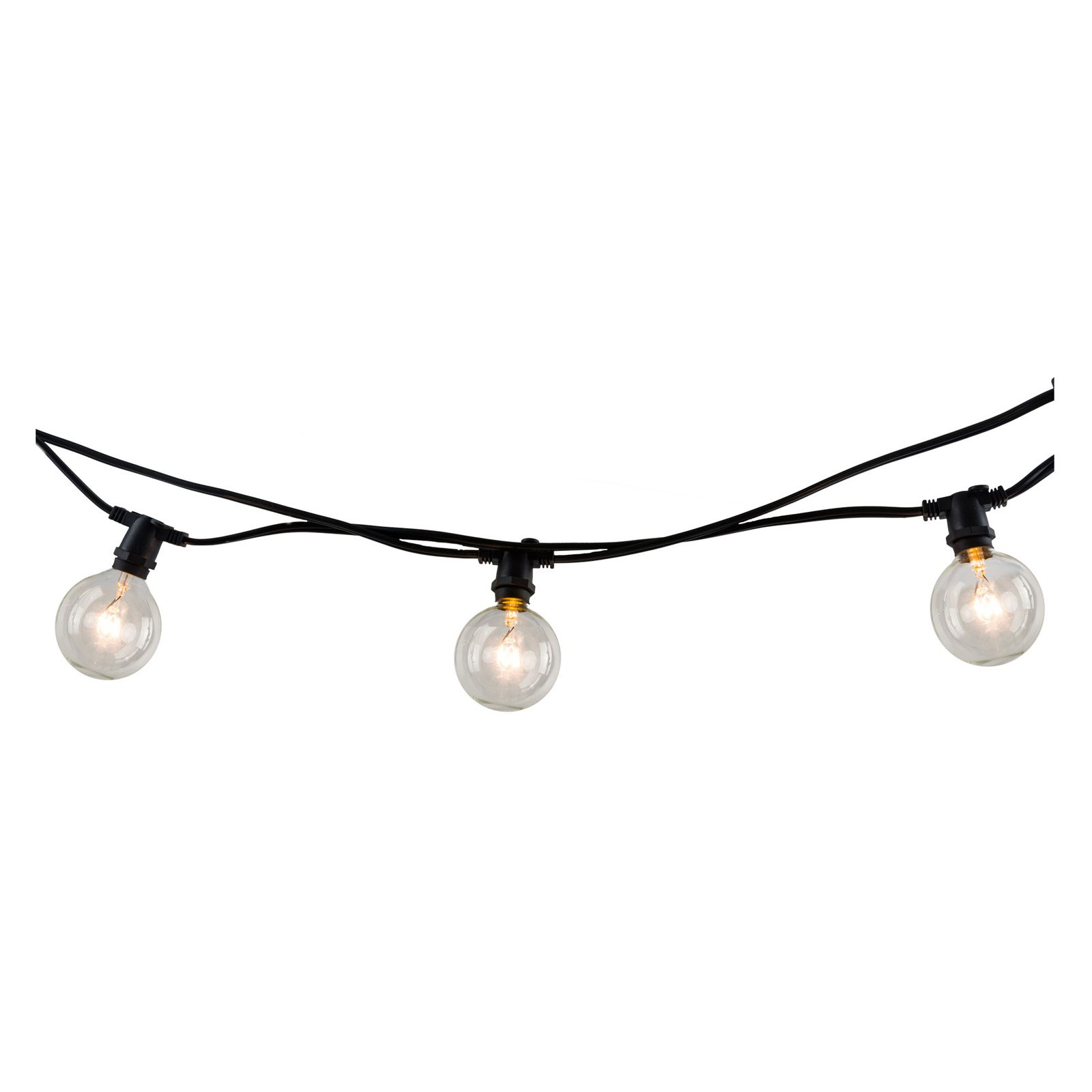 Bulbrite STRING10 E12 14 ft. Indoor and Outdoor String Light with 10 Clear Incandescent Lights by