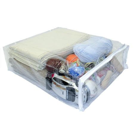 Heavy Duty Vinyl Zippered Closet Storage Bags Clear 15