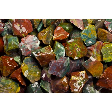 Fantasia Crystal Vault: 1/2 lb Fancy Jasper Rough Stones from Asia - Large 1