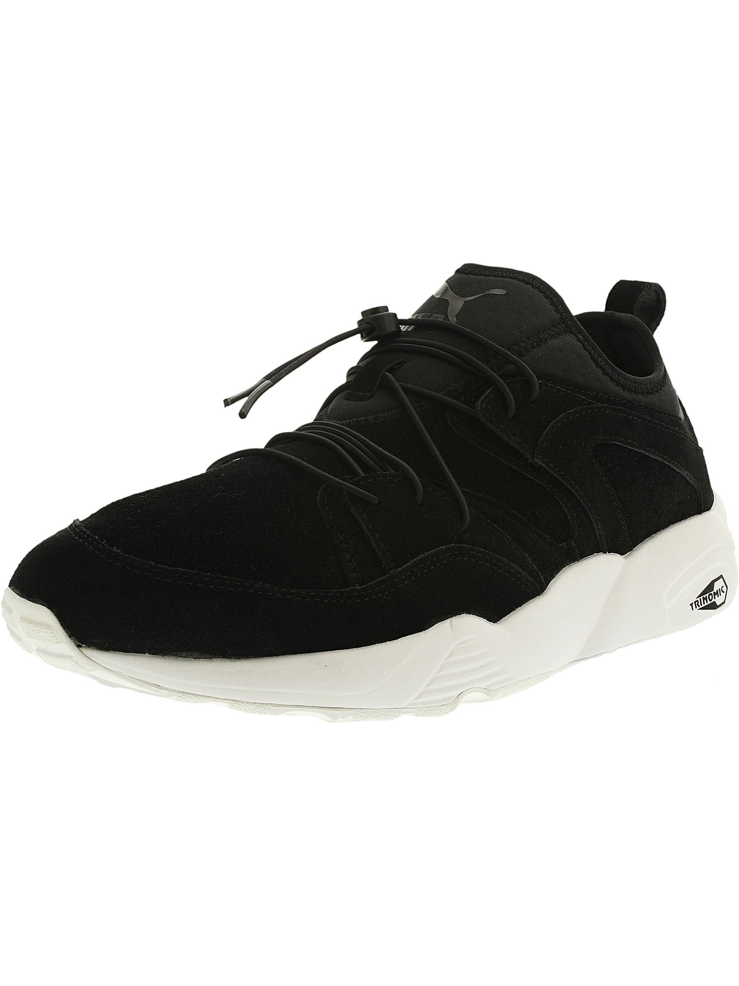Puma Men's Blaze Of Glory Soft Leather/Textile Black Ankle-High Leather Running Shoe - 12M
