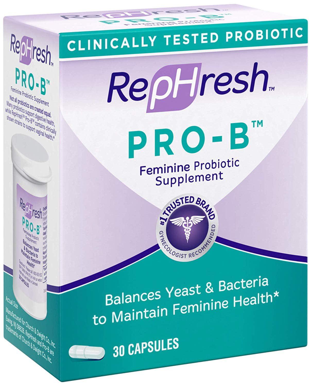 Rephresh Pro B Probiotic Feminine Supplement Capsules 30 Count Walmart Com Walmart Com