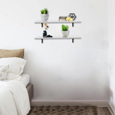 Zimtown 2 Display Shelf Floating Shelves Wall Mounted White
