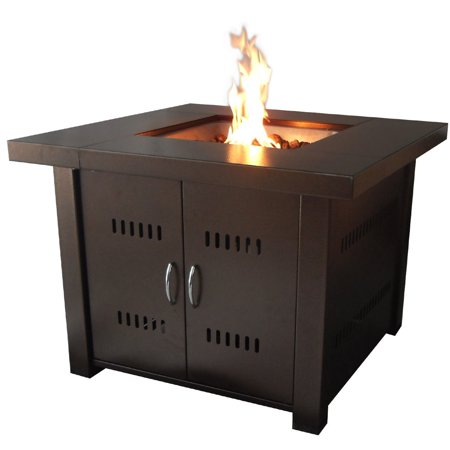 Costway Outdoor Fire Pit Table Patio Deck Backyard Heater Fireplace Propane LP Furniture ()