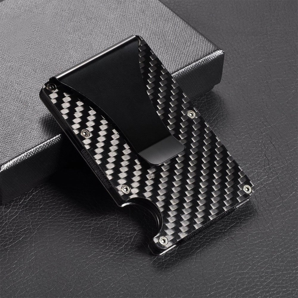 Slim carbon fiber credit card holder rfid non scan metal wallet slim carbon fiber credit card holder rfid non scan metal wallet money clip purse walmart magicingreecefo Gallery