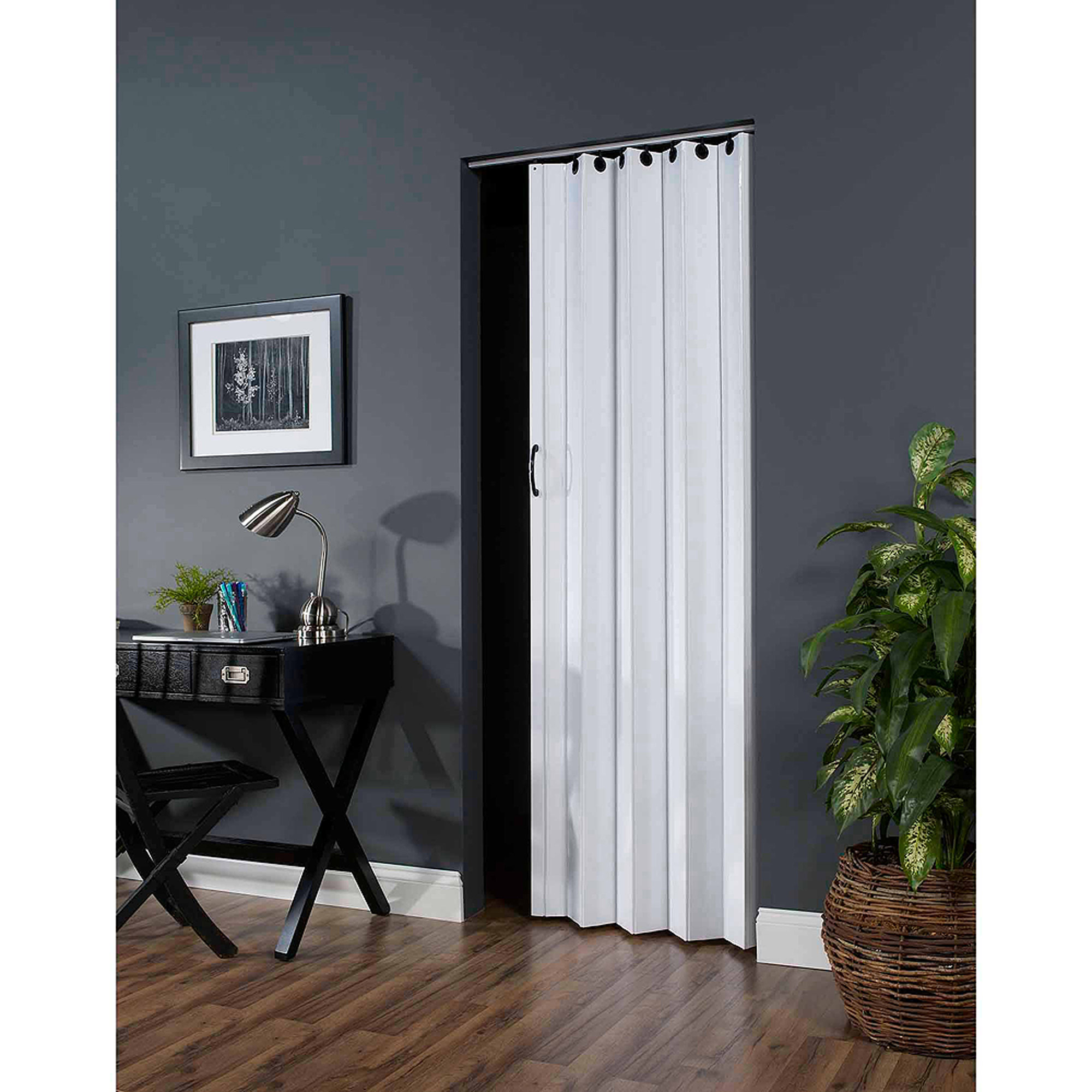 "Deco 36"" x 80"" Folding Door, White"