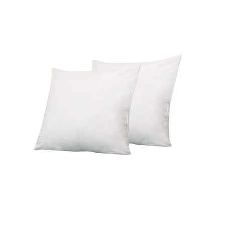 6D Pillow (12 x 12) Set of 2 Pillow Inserts for Decorative Bed Pillow Inserts Shams - Down Alternative Fill- By Splendid ()