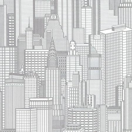 Advantage Aston Silver City Wallpaper - Windy City Wallpaper