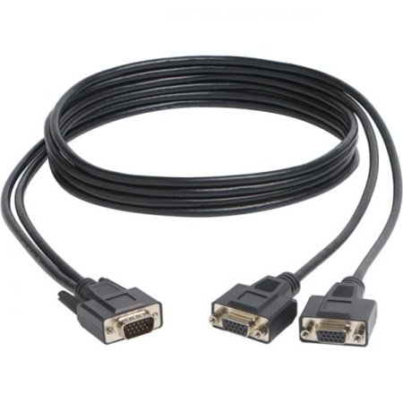 Tripp Lite High Resolution VGA Monitor Y Splitter Cable (HD15 M to 2x HD15 F), 6-ft - image 1 of 1