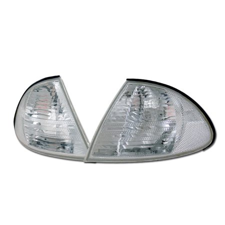 RL Concepts CRYSTAL CLEAR SIGNAL PARKING CORNER LIGHTS LAMP YD 99-01 BMW E46 3-SERIES 4D 4DR