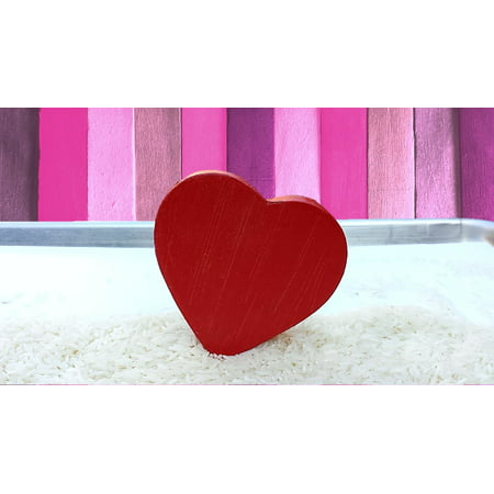 Framed Art For Your Wall Red Valentine Romance Love Day Heart Shape