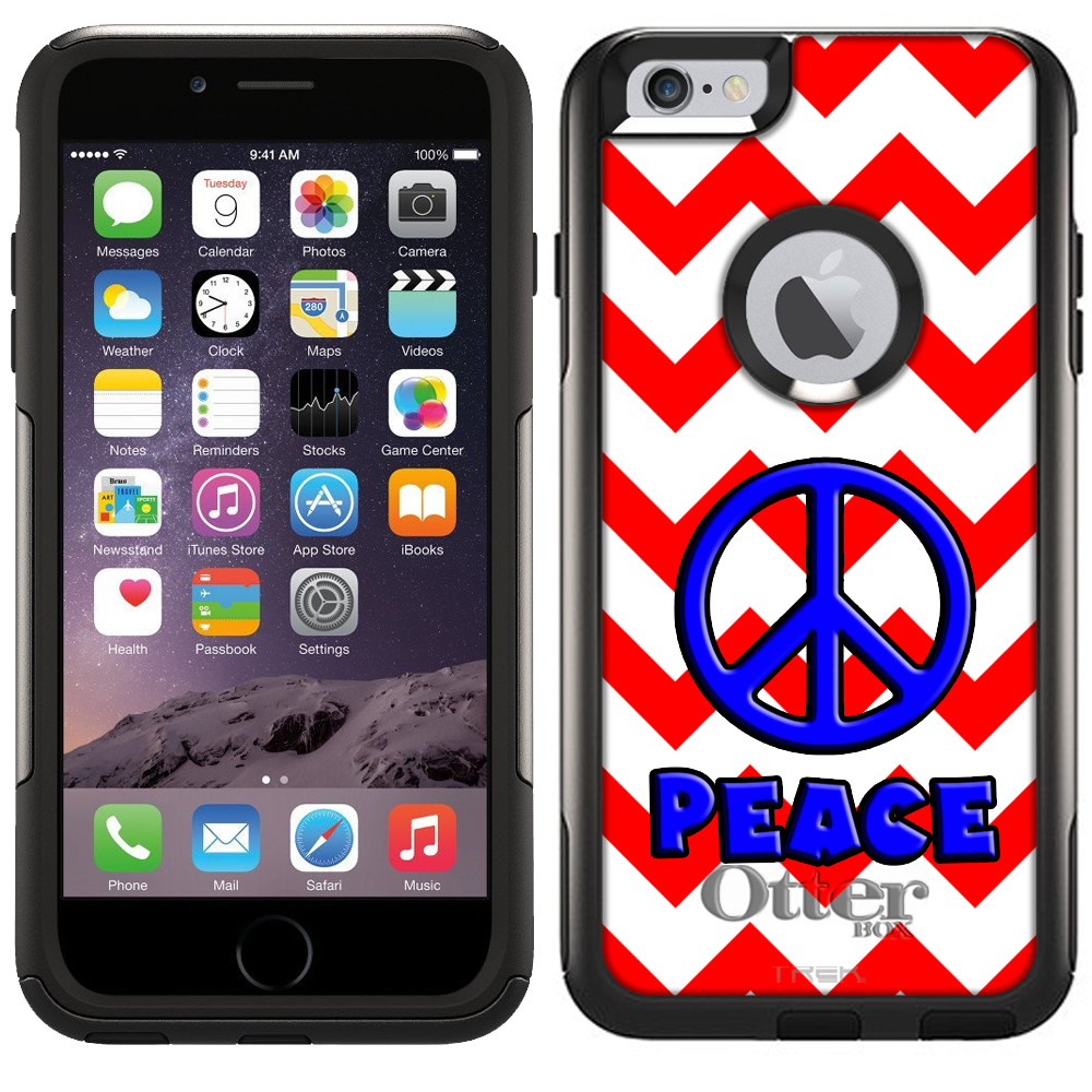 Otterbox Commuter Case for Apple iPhone 6 Plus - Peace on Chevron Red White